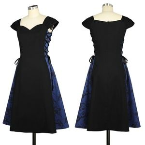 Plus Size Gothic Pin Up Lace Up Steampunk Dress NWT